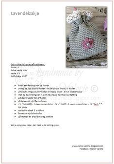 Atelier Valérie: Haak Patronen Crochet Fruit, Crochet Food, Knit Crochet, Crochet Hair Accessories, Crochet Hair Styles, Crochet Pouch, Wedding Favours, Crochet Projects, Free Pattern