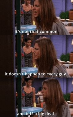 """When Ross admitted that he didn't read the 18-page letter, front and back, that Rachel wrote for him: 
