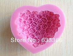 1pcs Silicone Cake Mold Bakeware Decorating Gum Paste Fondant Clay Soap Mold Rose Shaped CC078 * Click image to review more details.
