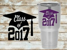 A personal favorite from my Etsy shop https://www.etsy.com/listing/530436733/class-of-2017-decal-graduation-decal
