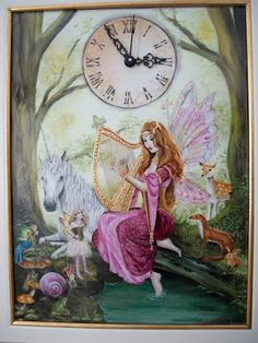 Fate Gnomi e Porcellane: Orologio Fantasy in porcellana dipinto a mano