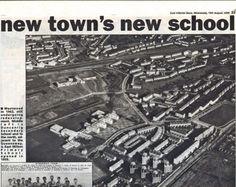 Duncanrig and surrounding area of Westwood Secondary School, Glasgow, Four Square, 1960s, City Photo, Scotland, Centre, Nostalgia, Memories