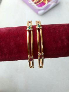 Get Recommendations With Regards To Simple Jewelry Care Gold Bangles Design, Gold Jewellery Design, Gold Jewelry, Jewelery, Fine Jewelry, India Jewelry, Silver Bracelets, Gold Earrings, Baby Jewelry