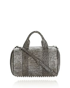 rocco in pebbled black/white tip with black nickel - Shoulder bag Women - Bags Women on Alexander Wang Online Store