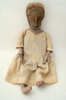 Homemade Rag Doll: Circa 1900