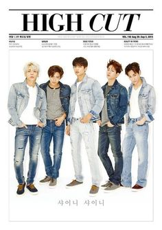 K pop boy group SHINee is featured in the upcoming issue of the fashion publication High Cut Magazine. The boys are dressed in casual outfits in their latest photoshoot, garnering much attention with their energetic and youthful charm. Onew Jonghyun, Lee Taemin, Shinee Members, Choi Min Ho, Korean K Pop, Lee Jinki, Kim Kibum, Vixx, High Cut