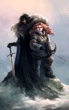 Jon Snow & Ygritte - Game of Thrones - Stef Tastan