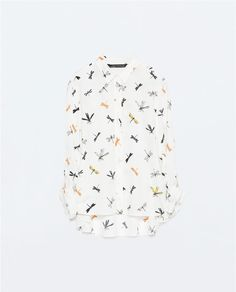 Image 8 of PRINTED SHIRT WITH TAB SLEEVES from Zara