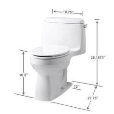 kohler santa rosa comfort height 1piece 128 gpf single flush compact elongated toilet with aquapiston flush in white