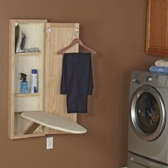 Amazon.com: Household Essentials StowAway In-Wall Ironing Board, Unfinished Oak: Home & Kitchen
