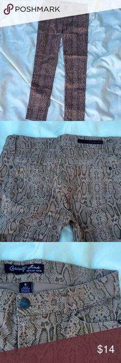 Celebrity Pink Pans Cotton snake skin print skinny pants by Celebrity Pink. Size 9 Celebrity Pink Pants Skinny