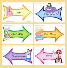Printable Templates Bright Alice Large Signs