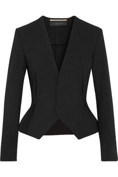 Roland Mouret|Myzus crepe peplum blazer|NET-A-PORTER.COM