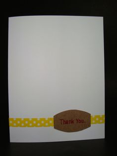 Thank You. card by JellybeanArtCards on Etsy