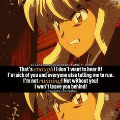 This is so cute! Inuyasha qoute