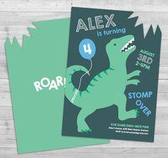 Dinosaur Invitation, Dinosaur Birthday Invitation, Boy Birthday Invitation Dinosaur, Dinosaur Party Invitation, Dino Boy Birthday Invitation by WLAZdesignSHOP on Etsy https://www.etsy.com/listing/268602771/dinosaur-invitation-dinosaur-birthday