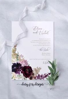 Do It Yourself (DIY) Printables Wedding Invitations by Daisy Designs #weddingprintables #DIYinvitations Printable Wedding Invitations, Diy Invitations, Floral Invitation, Wedding Invitation Suite, Wedding Stationery, Invites, Diy Wedding Templates, Floral Watercolor, Daisy
