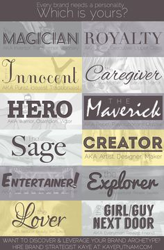 #Branding your business #Brand #archetypes