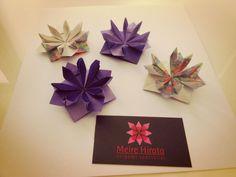Flower Origami designed by Hans Werner Guth   meirehirata.com Follow me on Instagram: Meire Hirata Origami