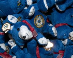 The American Legion Auxiliary handed out teddy bears to children under three at the ESC Yellow Ribbon Event.
