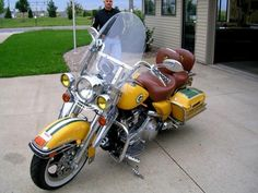We showed you the Green Bay Packers car. Well, here's something that's actually badass -- the Green Bay Packers Harley Davidson. Packers Baby, Go Packers, Packers Football, Greenbay Packers, Football Season, Green Bay Packers Cheesehead, Green Bay Packers Fans, Hello Green, Bart Starr