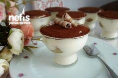 Best Cake : Tiramisu Kup (with delicious cream) - delicious recipes Mousse Au Chocolat Torte, Turkish Sweets, Big Chefs, Tasty, Yummy Food, Delicious Recipes, Pastry Cake, Turkish Recipes, Cupcakes