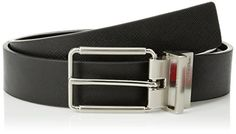 Calvin Klein Mens 32 mm Reversible Flat Strap Harness Buckle Belt BlackBlack 38 ** Check this awesome product by going to the link at the image.