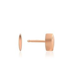 Rose Gold Square Stud Earrings – Ania Haie Gold Studs, Rose Gold Plates, Sterling Silver Earrings, Stud Earrings, Detail, Gifts, Jewelry, Presents, Jewlery