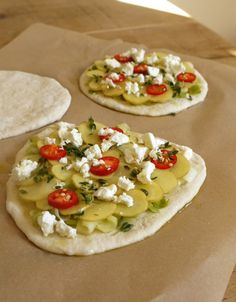 Leek Potato Pizzette vor dem Backen