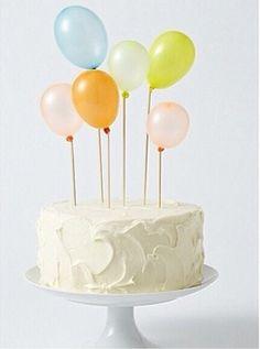 Naked simple cake balloon 😍