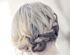 Braided Updo - 30 updos for medium length hair