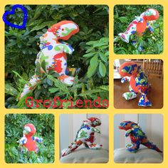 Baby Rex made with Dinosaur patterned babygro's! www.grofriends.co.uk