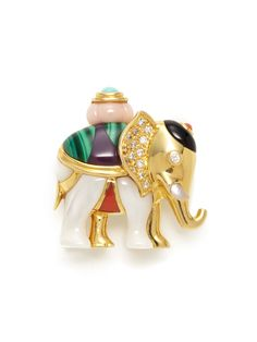Asshi Grossbardf Ca. Elephant Brooch from Fine Jewelry Trends: Statement Pieces on Gilt Elephant Jewelry, Animal Jewelry, Elephant Gifts, Marc Jacobs Watch, Fabric Animals, Purple Gold, Jewelry Trends, Gold Watch, Fine Jewelry