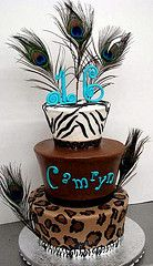 Animal Print Sweet 16th Cake by Sweet Confections Cakes