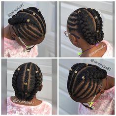 Lil Girl Hairstyles, Black Kids Hairstyles, Natural Hairstyles For Kids, Kids Braided Hairstyles, Teenage Hairstyles, Cornrow Hairstyles Natural Hair, Kids Natural Hair, Kids Crochet Hairstyles, Flat Twist Hairstyles