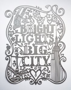 I'm obsessed with laser cut paper - and this combines art with another favourite - New York! Stunning