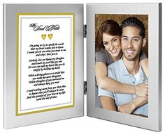 Romantic gift ideas: Best Anniversary or Birthday Gift for Wife Husband Girlfriend or Boyfriend - Soulmate Romantic Love Poem Plus Your Cute Photo in Double Frame (afflink) Christmas Poems, Christmas Gifts For Girlfriend, Christmas Gifts For Her, Valentine Day Gifts, Valentines, Diy Christmas, Xmas, Romantic Love Poems, Romantic Gifts For Wife