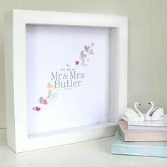 first anniversary butterfly artwork by sweet dimple | notonthehighstreet.com