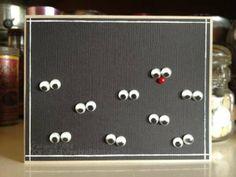 Card: Reindeers in the dark!