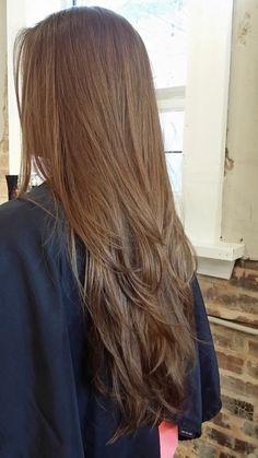 Haircuts Straight Hair, Long Hair Cuts, Haircut Long, Long Layered Hair, Layered Lob, Layers For Long Hair, Hair Shades, Light Brown Hair, Aesthetic Hair