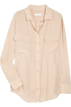 I have been trying to find a basic blouse in this color! Equipment makes the best silk blouses. This would work for the office and when paired with pumps and leather pants.