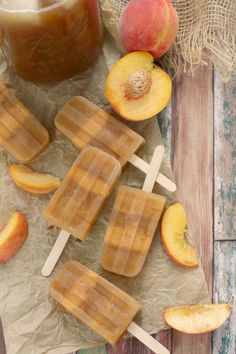 Sweet Tea Peach Popsicles (with a Boozy option ft. Peach Bourbon)