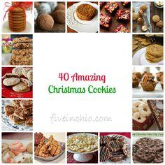 40 Amazing Christmas Cookies via Five in Ohio