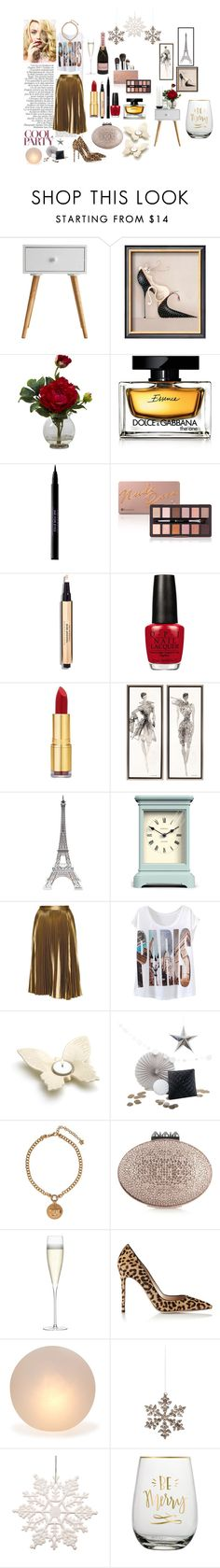 """Party mood."" by manette-burrell ❤ liked on Polyvore featuring Nearly Natural, Dolce&Gabbana, Urban Decay, OPI, Isaac Mizrahi, Chanel, Merci Gustave!, Newgate, A.L.C. and ACME Party Box Company"