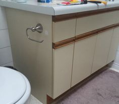 Bathroom Update + How to Paint Laminate Cabinets — The Penny Drawer