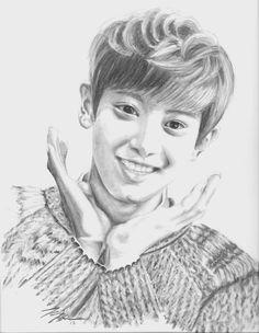 Exo Chanyeol .:Fan Art:. by FallThruStardust on deviantART