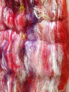 VALENTINES DAY Spinning Batt  Alpaca / Merino / Silk by AlmaPark, $9.25