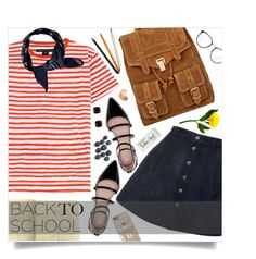 """""""199. back to school"""" by auroram ❤ liked on Polyvore featuring Marc by Marc Jacobs, Zara, Proenza Schouler, Casetify, Jac Zagoory Designs, Paper Mate, Mimco and Linda Farrow"""