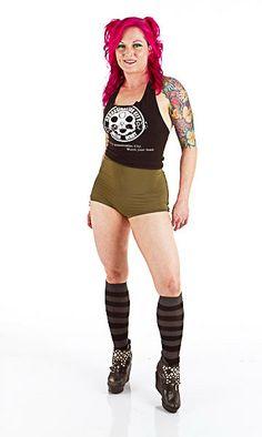 Roller Derby Shorts - Highwaist Scoop - Holly