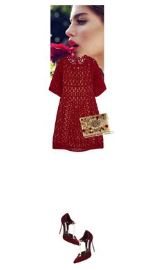 """Journey Willow Ann #5229"" by canlui ❤ liked on Polyvore featuring Chloé, Brian Atwood, Dolce&Gabbana, women's clothing, women, female, woman, misses, juniors and red"
